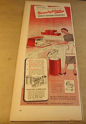 "Original Ad[6""x14""]<Product>..[1953]--BEAUTYWARE-<KITCHEN ACCESSORIES>"