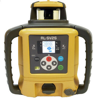 Topcon RL-SV2S RB.D Dual Slope Self-Leveling Laser Level Digital & Rechargeable