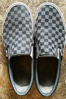 9b4cffc193e215 Vans CHECKERBOARD SLIP-ON BLACK PEWTER CHECKER Canvas Classic Shoes US-10  Men