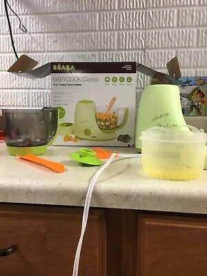Baby Cook Classic Béaba 4 In 1 Food Maker Used Complete