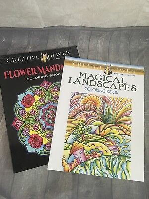 Adults Coloring Books For Stress Relief Mandalas Black Background Landscapes