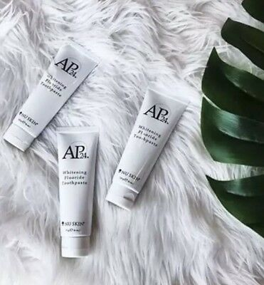 NU SKIN AP24 Whitening Fluoride Toothpaste ✨ NO PEROXIDE ✨ REMOVES STAINS ✨