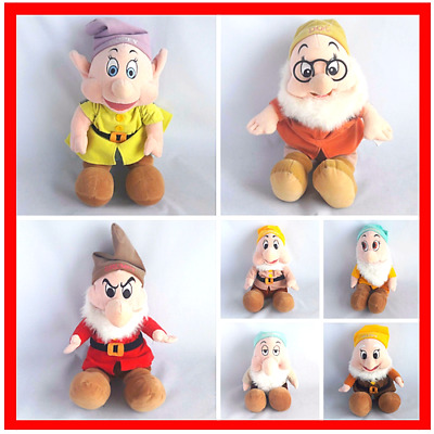 7 Dwarfs from Snow White Soft Toy Plush Stuffed Animal by Disney Collectable