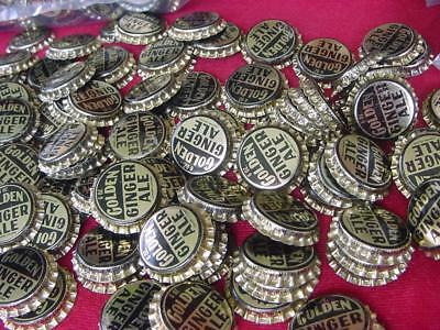 500 Old Unused Golden Ginger Ale Bottle Caps Bottled by Coca Cola Cambridge MD