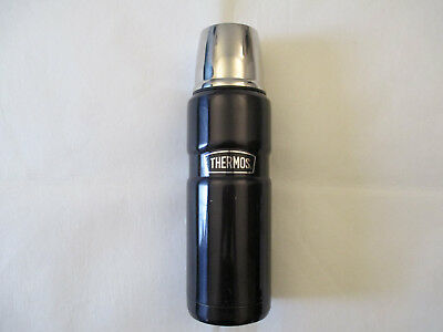 *NICE*  Thermos Stainless King 16 Ounce Compact Bottle, Midnight Blue