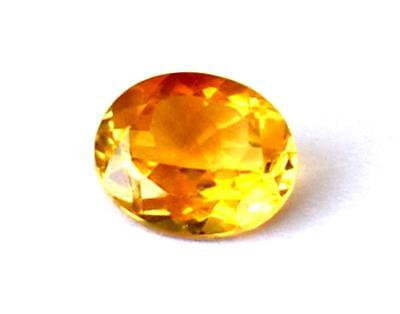 Fine Flawless Citrine Faceted Oval Cut Stone 10X12 Mm Natural Gemstone #1077
