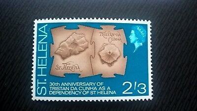 St Henena stamps - 30th Anniv. of Tristan da Cunha as Dependency 2'3d - FREE P&P