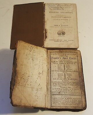 Trader's Sure Guide & Linear Drawing books 18th/19th century