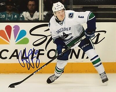 9249b9ff653 WITH PROOF! BROCK BOESER Signed Autographed 8x10 Photo VANCOUVER CANUCKS