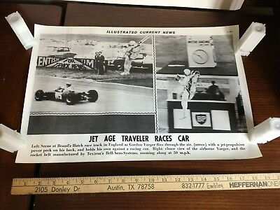 Illustrated Current News Photo - Jet Pack Race Car Yaeger Textron Bell Aero