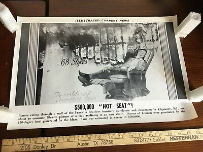 Illustrated Current News Photo - Franklin Brothers Furniture Edgemere MD Fire