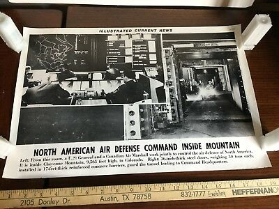 Illustrated Current News Photo - Air Defense Cheyenne Mountain Colorado America