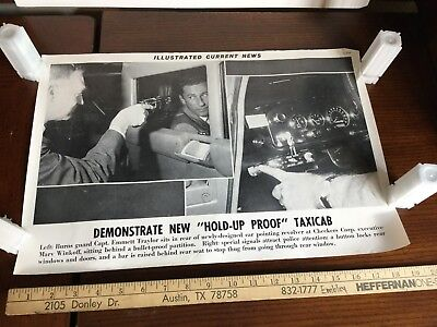 Illustrated Current News Photo - Hold Up Proof Taxicab Bullet Proof Partition