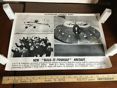 Illustrated Current News Photo - Build it Yourself Aircraft DIY Flying Saucer