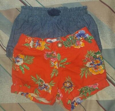 Toddler Old Navy Shorts and Floral short 3t lot of 2