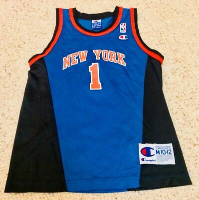 buy online d57db e8ab8 BOYS AUTHENTIC NEW York Knicks Jersey NBA Basketball Throwback Vintage  Medium 12