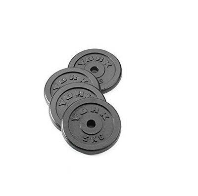 York Fitness 4 x 2.5kg Standard Cast Iron Disc Set