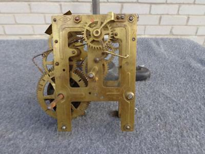 American Unmarked Pendulum Wall Shelf Clock Movement Clock Parts Restore