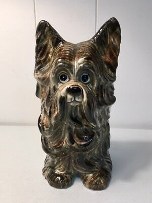 "Vintage Japan Seymour Mann Lhasa Apso Dog Figurine w/ sticker 7"" Tall 1950's"