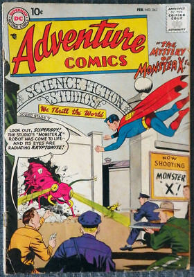 Adventure Comics #245 Superboy Aquaman Green Arrow The Mystery of Monster X!