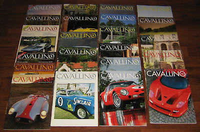 ❤️ CAVALLINO Vintage Collection ~ Lot of 22 Ferrari Magazine mix within #61-100