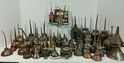 Vintage Oil Can Oilers Lot Of 60 plus Some Advertisement Oilers.
