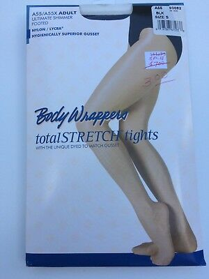 BodyWrappers A55 ultimate shimmer footed Black tights Adult NEW