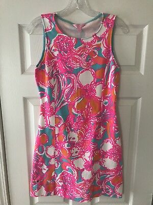 b35a75ebd83847 NWT Lilly Pulitzer Whiting Cut Out Shift Dress Shorely Blue Feeling Tanked  SMALL