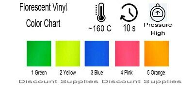10mx0.5m PU T-SHIRT GARMENT FLORESCENT FLURO VINYL HEAT PRESS Transfer FILM ROLL