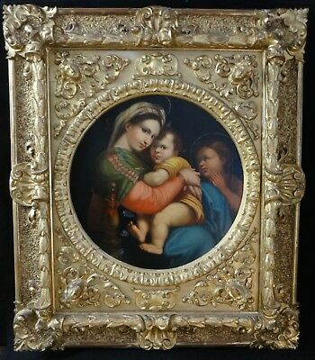 Italian Renaissance Style Madonna & Child. Fantastic Gilt Frame. c 19th -38 x 32