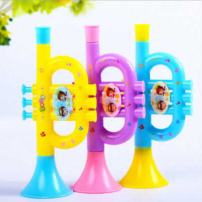 Colorful Trumpet Hooter Baby Kids Musical Instrument Early Education_Toy AU.