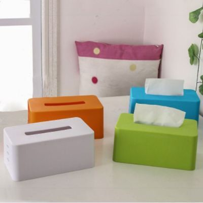 4Colors Plastic Facial Tissue Napkin Box Toilet Paper Storage For Office Home