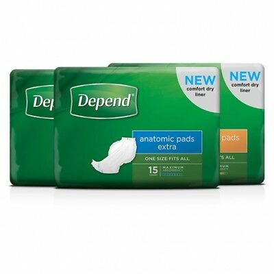 New Depend Unisex Anatomic Pads - Normal, 605Mm L, 1300Ml Carton (16 X 4 Packs)