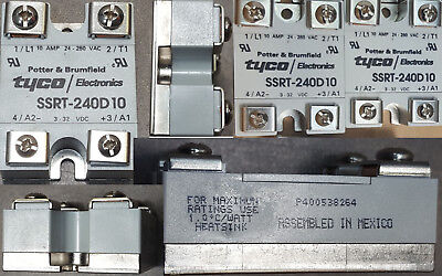 Tyco Solid State. Lot Of 2  Relays Potter & B. Ssrt-240D10,24-280Vac,10A.3-32Vdc
