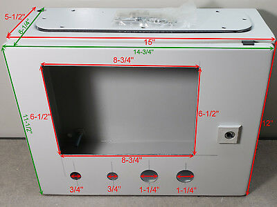 RITTAL ELECTRICAL ENCLOSURE AE 1030. 380-300-155.Some cut out, but never used.