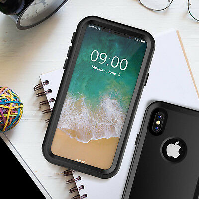 For iPhone X/8/7/6 Water/Snow Proof Case Underwater Dirtproof Cover Kickstand