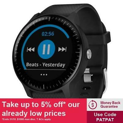 Garmin Vivoactive 3 Music Black (Stainless) with GEN GARMIN WARR