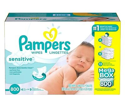 PAMPERS Sensitive Baby Wipes 800 ct. FREE SHIPPING