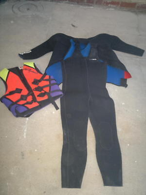 Williams Life Jacket (L) + Sonar Diving Surfing Wetsuit (6) Great condition