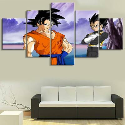 HD Prints Canvas Wall Art Picture Living Room Home Decor 5 Pieces Dragon Ball So