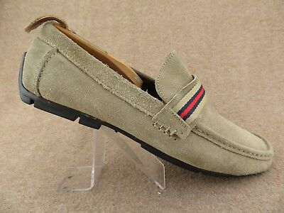 9372c32c36f1e4 TOMMY HILFIGER Clarence Tan Sz 8.5 Men Driving Moccasin Suede Loafers