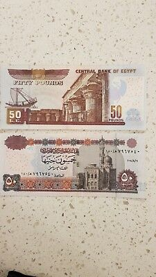 Uncirculated 50 Egyptian Pound