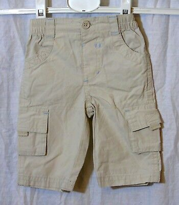 Baby Boys George Beige Cotton Cargo Combat Summer Trousers Age 0-3 Months