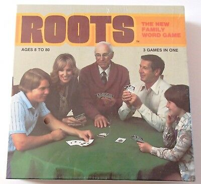 Vintage 1978 Roots Family Word Board Game New OR Sealed Cards - Choose