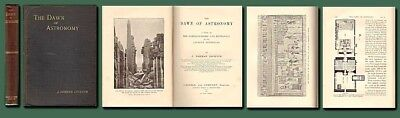 1894 Dawn of Astronomy/Lockyer/1st/Archaeology/Egypt/Pyramids/Ill/Foldout Map/NF