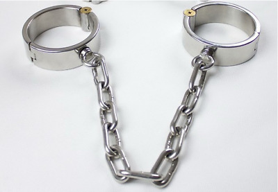 Heavy duty 2Pcs Stainless Steel Hands Wrists Ankle Leg Cuffs Bondage shackles