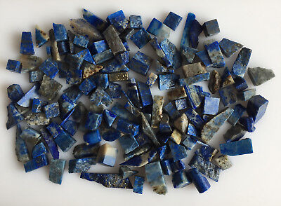 Natural Lapis Lazuli Sawed Rough Scoop Lot Blue Loose Gem Raw Mineral Earthmined