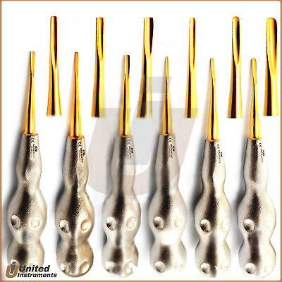 Pattern Handle Dental Luxating Root Elevators Coupland Chisels Tooth Extracting