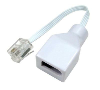 BT Socket to RJ11 Plug 4 Pin Telephone Phone Cable Adaptor Converter UK plug