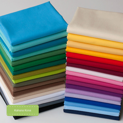 "Kona Solids /""Oh Boy/"" FQ Bundle Cottons 10 Fabrics"